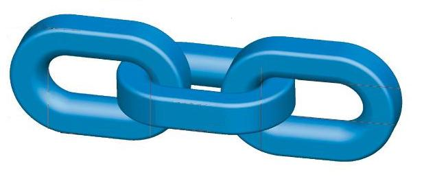 Hijsketting blauw Grade 120