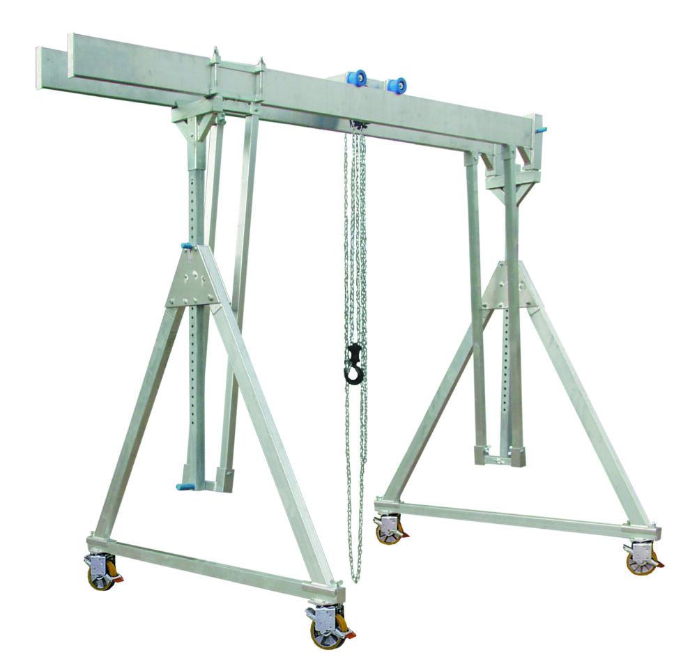 Aluminium portaal - 1 / 1.5T verrijdbaar onder last